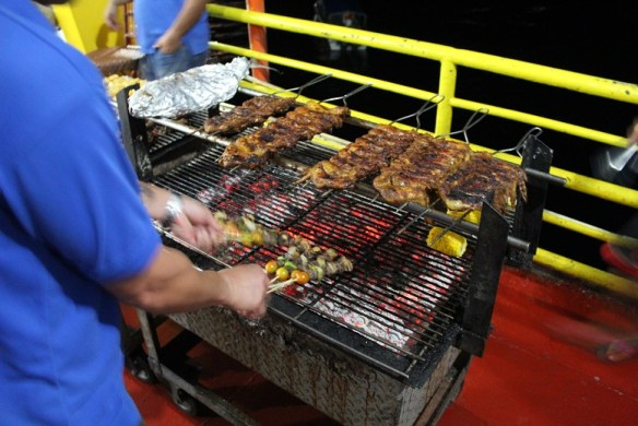 dive rig barbecue night
