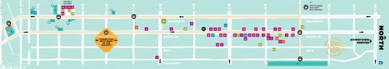 First Friday Art Walk MAP