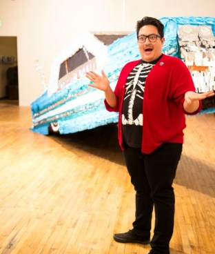 Justin Favela, a Las Vegas-based artist, produced a full-size lowrider piñata. Photo by Mellisa Quesada, LatinLife Denver Media