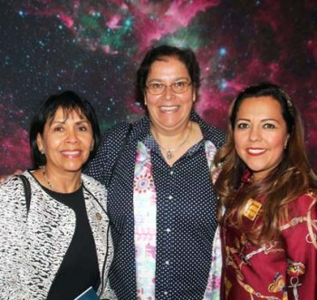 Among those attending the opening reception were Ambassador Berenice Rendón-Talavera, Consul General of Mexico in Denver, (left) Gabriela Chavarria, PhD Vice President of Research and Collections (center) and Claudia Moran   Executive Director, Museo de las Americas (right)