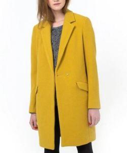 Manteau droit jaune moutarde - La Redoute