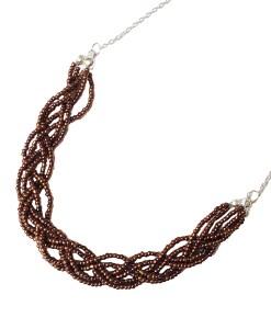 la touche finale collier bijoux fait main tresse perles