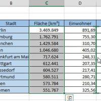 Zellen vertauschen im Excel