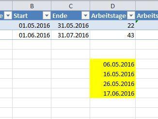 Excel Arbeitstage Berechnen : excel laufzeitfehler ~ Themetempest.com Abrechnung