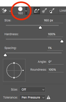 how to change eraser size in illustrator