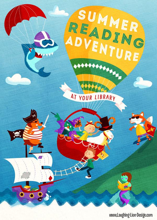 Summer-Reading-Adventure-Illustrated-by-Jennifer-Farley