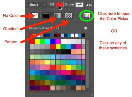 5 - Change colour on Options Bar Photoshop
