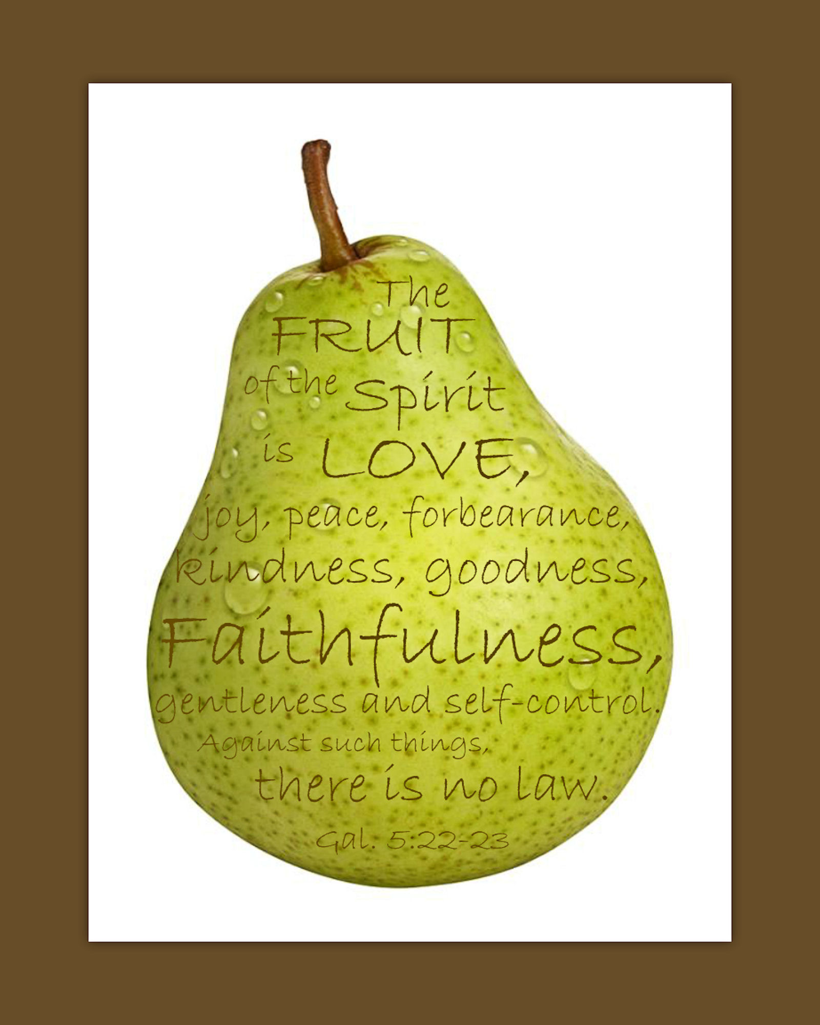 Impertinent image in printable fruit of the spirit