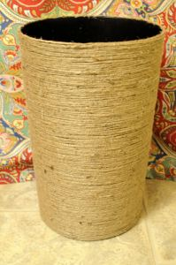 Jute Wrapped Wastebasket