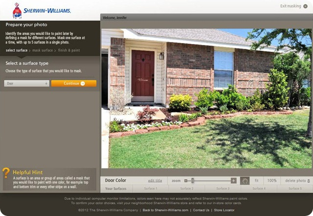sherwin williams color visualizer laughter and grace