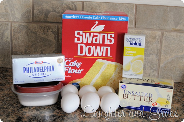 Lemon Cream Cheese Pound Cake Ingrediants