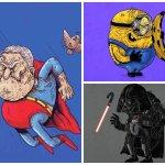 Así se verían nuestros personajes de ficción favoritos si envejecieran