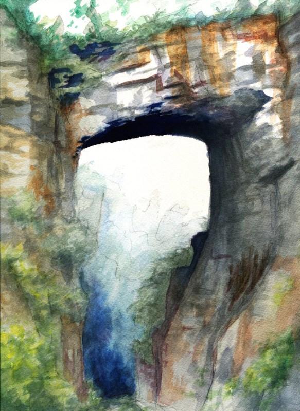 Natural Bridge Virginia Watercolor