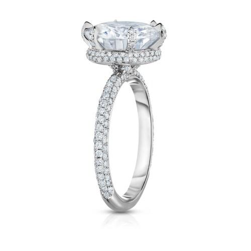 Medium Of White Gold Engagement Rings