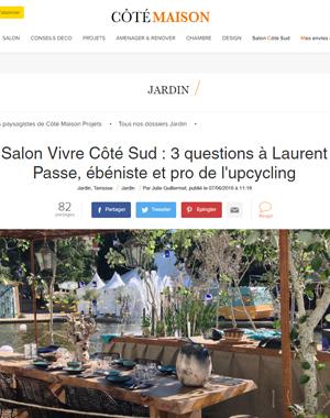Côté Maison - Interview Juin 2016