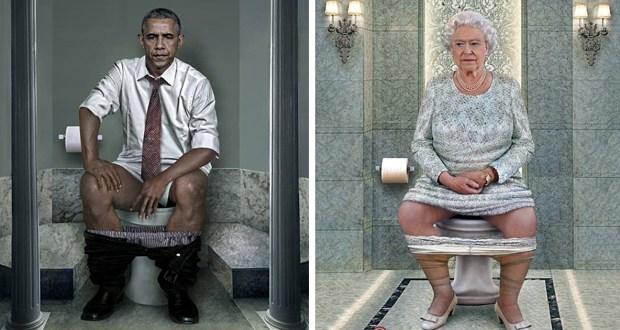 Obama, Poutine et les autres leaders mondiaux sur le trône