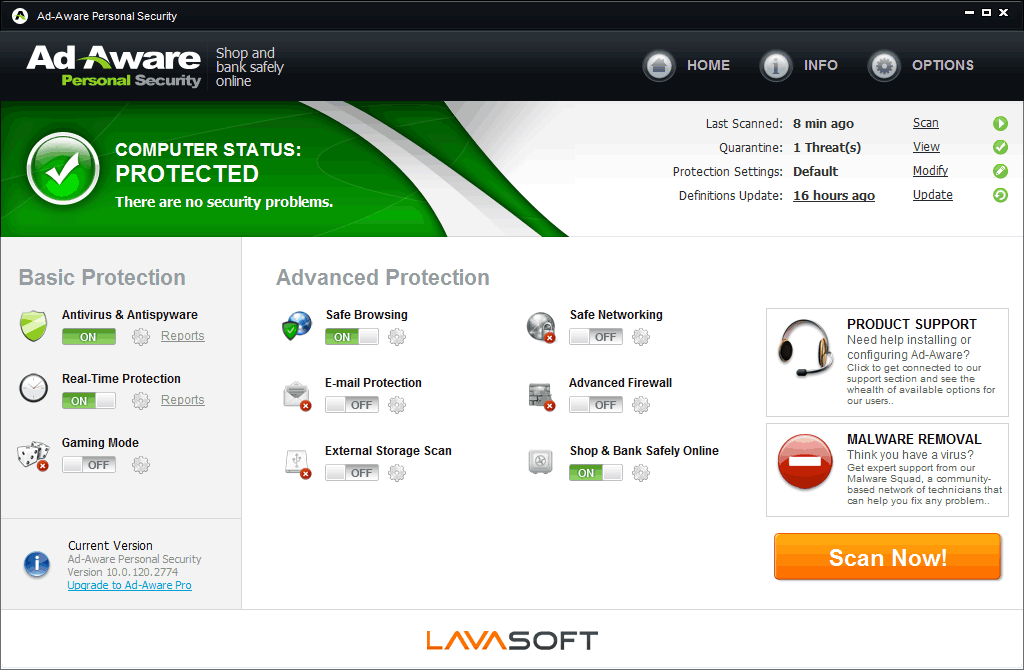 lavasaoft ad-aware personal security