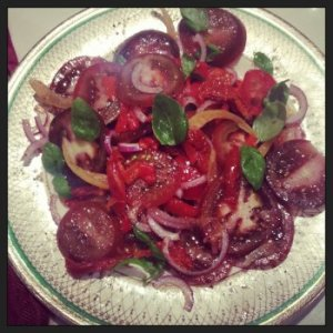 Late Season Tomato and Preserved Lemon Salad
