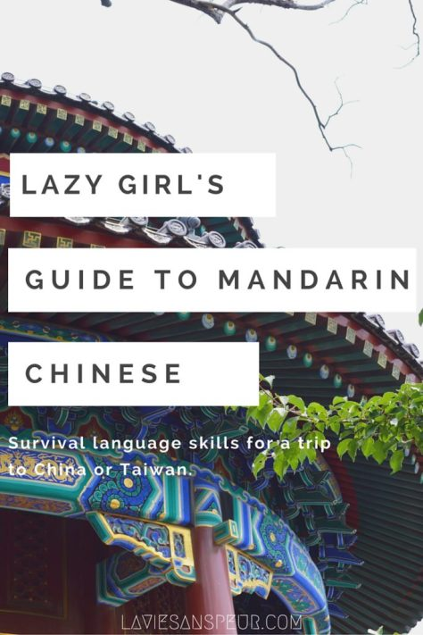 Lazy Girl's Guide to Mandarin Chinese - free, easy quick-start guide for total beginners and newbies. learn survival language skills for a short trip or quick visit to China or Taiwan! This vital vocab is enough for you to get by in Beijing, Shanghai, Nanjing, Taipei, Shenzhen, Chengdu, etc without spending money or too much time. Simple conversation, easy words, vocabulary blog blogger skills survive blog blogger vlog vlogger necessary vital imperative needed important phrases pronunciation tones beginning
