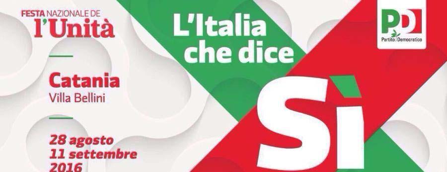 Tutti a Catania sotto la bandiera dell'Unità