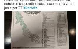 Anuncian la suspensión de clases para este Martes en 69 municipios, entre ellos Tantoyuca