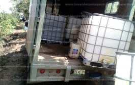Aseguran fuerzas del orden camioneta con hidrocarburo ilegal