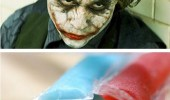 A Batman meme. A scene of The Joker from The Dark Knight. You wanna now how I got these scars? By eating ice pops popsicles.