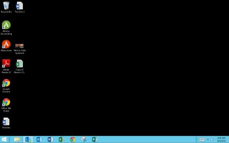 A virtual desktop replaces your computer desktop.