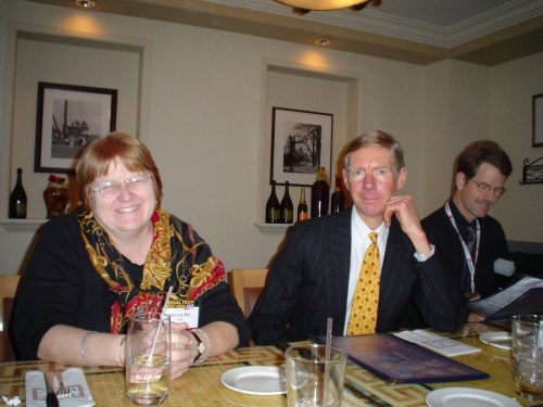 At LegalTech 2005 with blogger Bruce MacEwen.