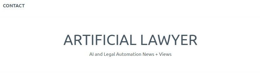 And Another New Legal Technology Blog, This One Focusing on AI