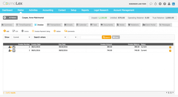 Users can now mark invoices as final.