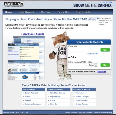 LawyersandSettlements.com Legal Blog » CarFax Consumer Fraud? You be the Judge