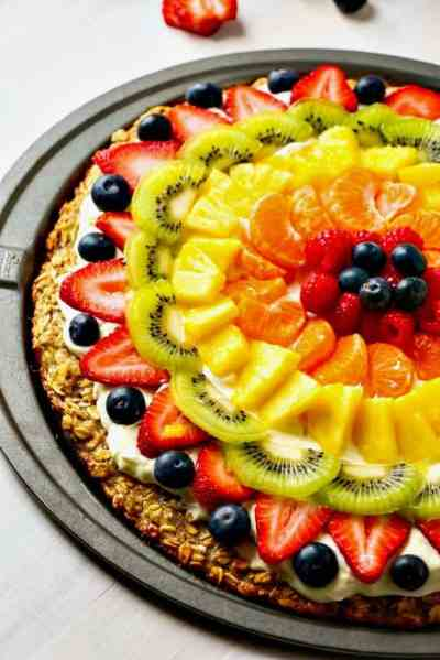 Healthier Homemade Fruit Pizza - Layers of Happiness
