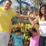 Saeed Abedini is seen with his family