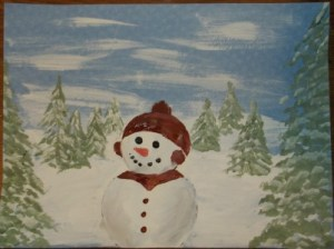 snowman-cap and scarf -finished