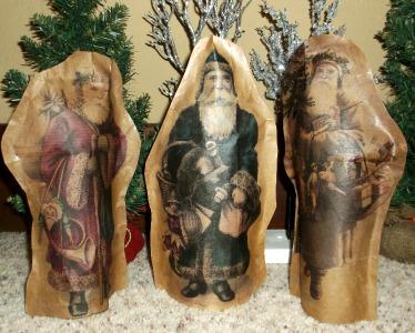 vintage santas with sealer