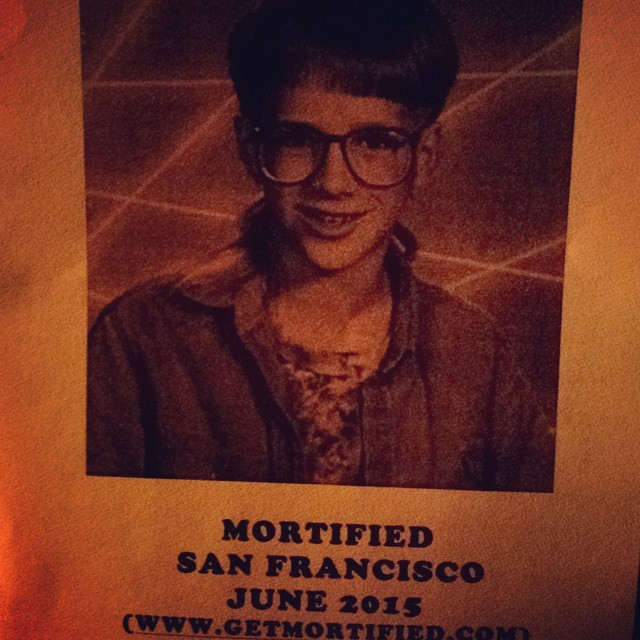 "Excited to finally see ""Mortified!"""