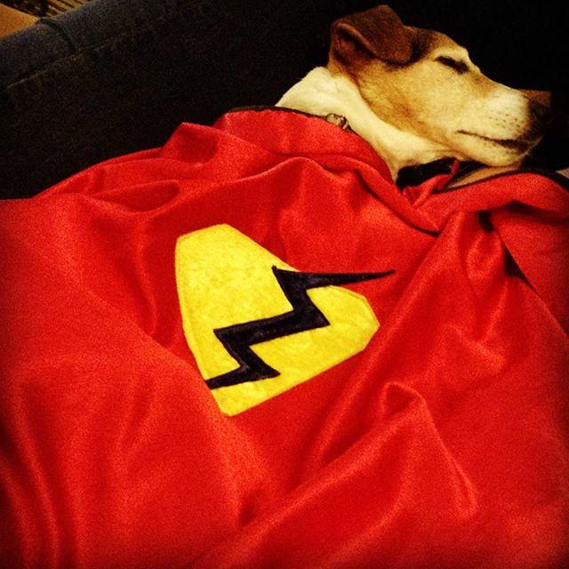 Even super heroes need to sleep.