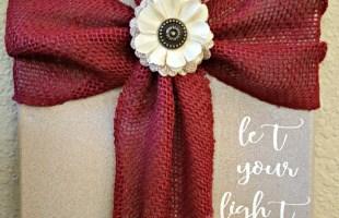 Fabric Cross Sign Tutorial