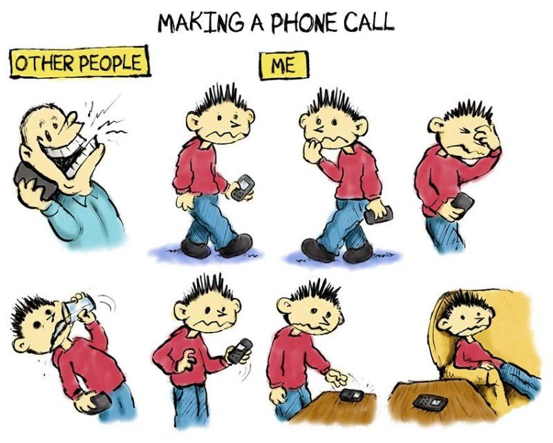 Talking on the phone and social anxiety