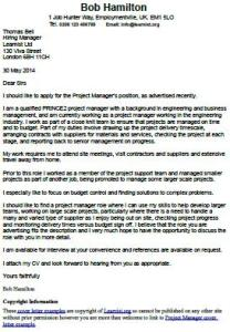Cover Letter Example For A Project Manager