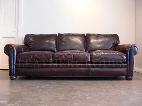 8ft Langston Leather Sofa  One Only 8 Ft Couch LeatherGroupscom19