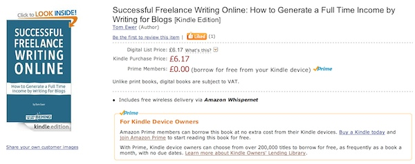 """Successful Freelance Writing Online"" on Amazon"