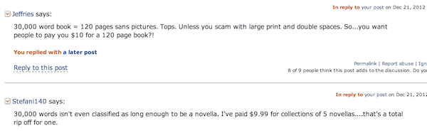 Kindle Book Comments
