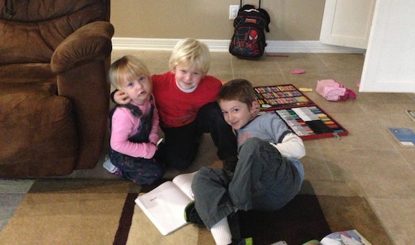 My sister's kids: Maggie, Auggy and Jack.