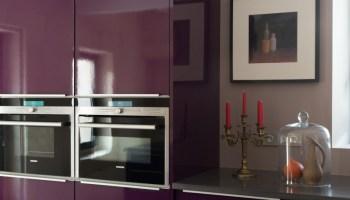 Cuisine Lapeyre - meubles bois et blancs assortis -