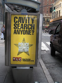 Ad spotted on Madison Avenue