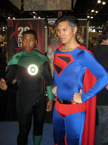 Green Lantern and Superman
