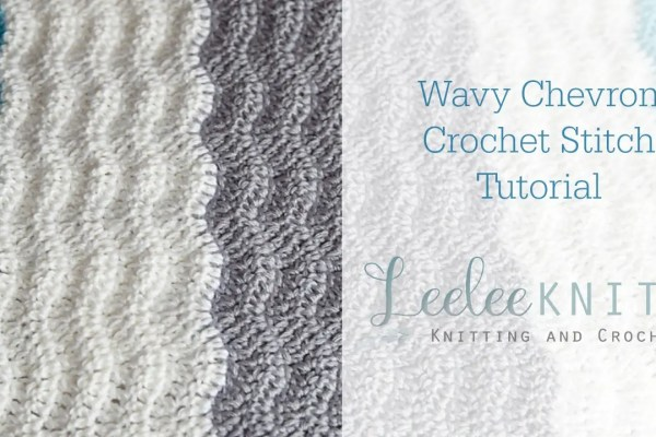 Wavy Chevron Crochet Stitch Video Tutorial