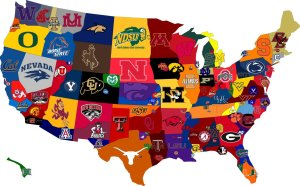 college sports map from live campus